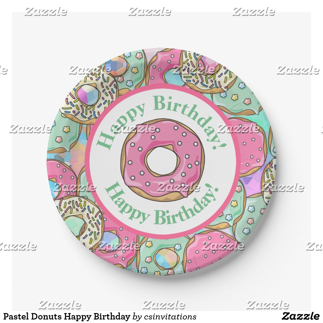 Pastel Donuts Happy Birthday