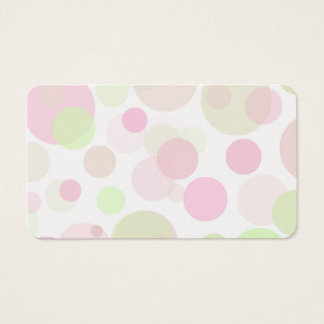 Pastel Dot Background Template Pink Green Circles Business Card