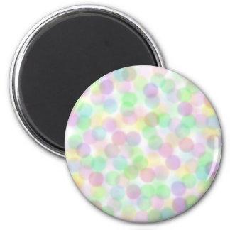 Pastel Dots 2 Inch Round Magnet