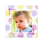 Pastel Dots Baby Photo Canvas Gallery Wrapped Canvas