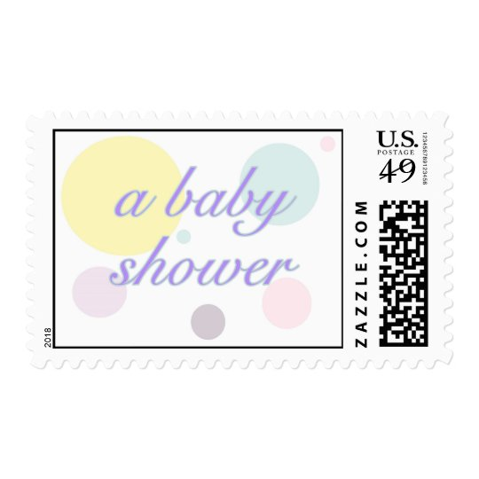 Pastel Dots Baby Shower Stamp