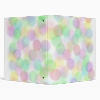 Pastel Dots Vinyl Binder