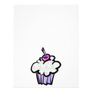 pastel dots cupcake flyer