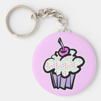 pastel dots cupcake keychain
