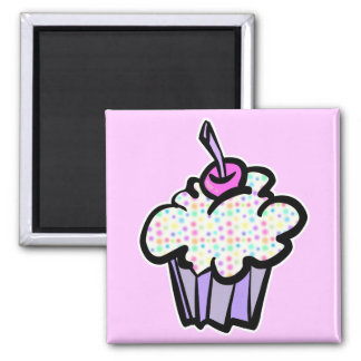 pastel dots cupcake fridge magnets