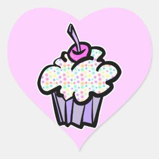pastel dots cupcake stickers