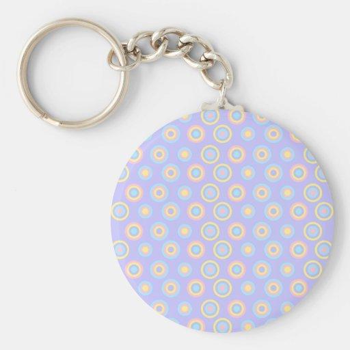 Pastel Dots Keychain