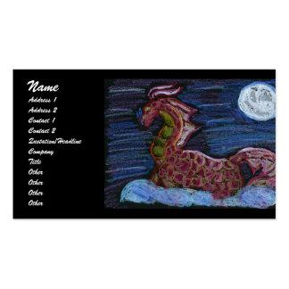 Pastel dragon business card