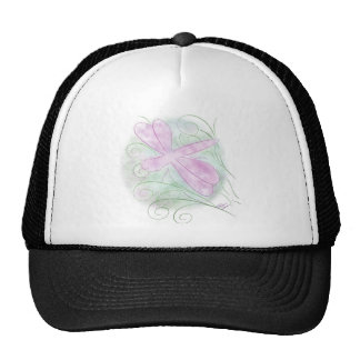 Pastel Dragonfly Art Trucker Hat