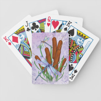Pastel Dragonfly Bicycle Playing Cards