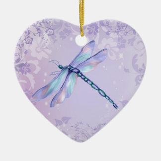 Pastel Dragonfly Ceramic Ornament