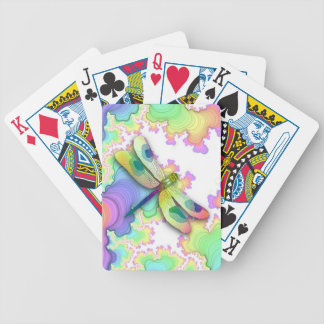 Pastel Dragonfly Playing Cards