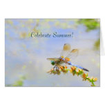 Pastel Dragonfly Summer Solstice Card