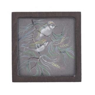 Pastel drawing of birds premium gift box