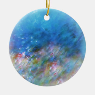 Pastel Dreamscape Ceramic Ornament