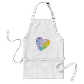 Pastel Droplets Angel Heart Adult Apron