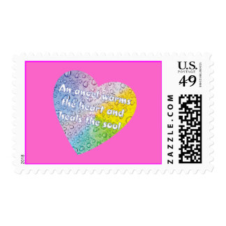 Pastel Droplets Angel Heart Stamp