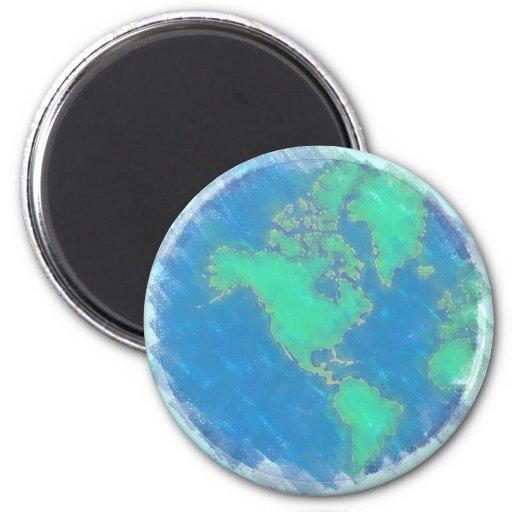 Pastel Earth Magnet Fridge Magnet