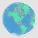 Pastel Earth Stickers