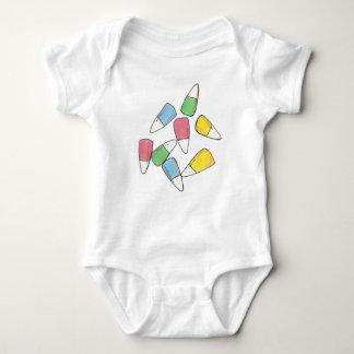 Pastel Easter Basket Candy Corn Candies Suit Baby Bodysuit