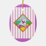 Pastel Easter Bunny Christmas Tree Ornaments