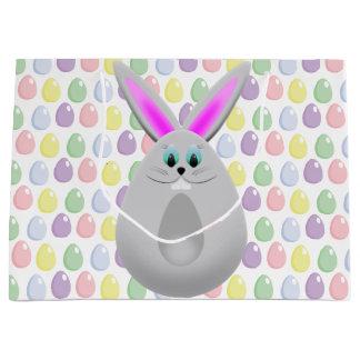 Pastel Easter Bunny Eggs Large Gift Bag