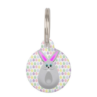 Pastel Easter Bunny Eggs Pet ID Tag