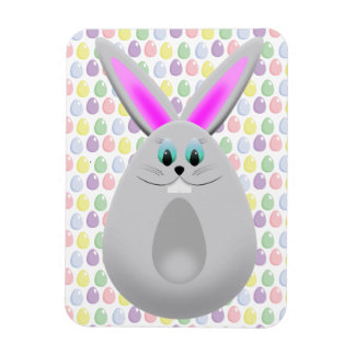 Pastel Easter Bunny Eggs Rectangular Photo Magnet