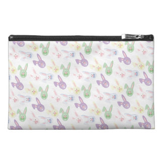 Pastel Easter Bunny Heads Travel Accessories Bag