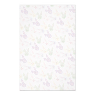 Pastel Easter Bunny Heads Stationery