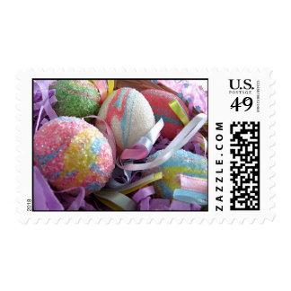Pastel Easter Eggs Stamp