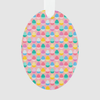 Pastel Easter Eggs Two-Toned Multi on Blush Pink