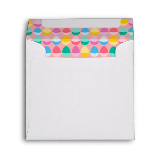 Pastel Easter Eggs Two-Toned Multi on Blush Pink Envelope
