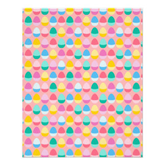 "Pastel Easter Eggs Two-Toned Multi on Blush Pink 4.5"" X 5.6"" Flyer"