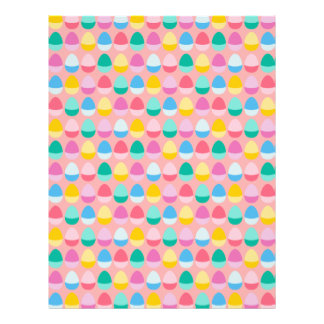 "Pastel Easter Eggs Two-Toned Multi on Blush Pink 8.5"" X 11"" Flyer"