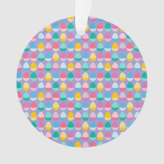 Pastel Easter Eggs Two-Toned Multi on Lilac