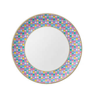 Pastel Easter Eggs Two-Toned Multi on Lilac Dinner Plate