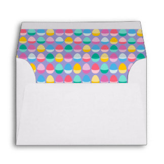 Pastel Easter Eggs Two-Toned Multi on Lilac Envelope