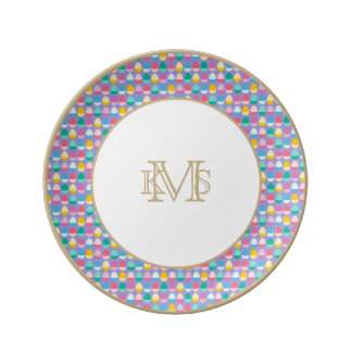 Pastel Easter Eggs Two-Toned Multi on Lilac Plate