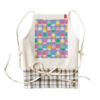 Pastel Easter Eggs Two-Toned Multi on Lilac Zazzle HEART Apron