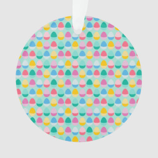 Pastel Easter Eggs Two-Toned Multi on Mint