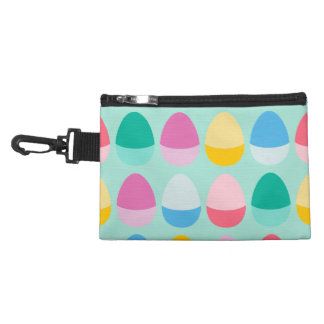 Pastel Easter Eggs Two-Toned Multi on Mint Accessory Bag
