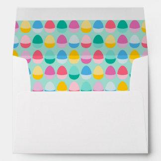Pastel Easter Eggs Two-Toned Multi on Mint Envelopes