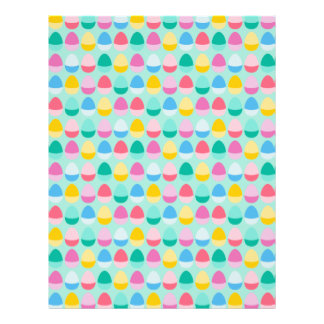 "Pastel Easter Eggs Two-Toned Multi on Mint 8.5"" X 11"" Flyer"