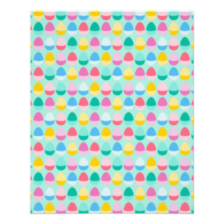"Pastel Easter Eggs Two-Toned Multi on Mint 4.5"" X 5.6"" Flyer"