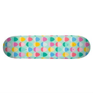 Pastel Easter Eggs Two-Toned Multi on Mint Skate Decks
