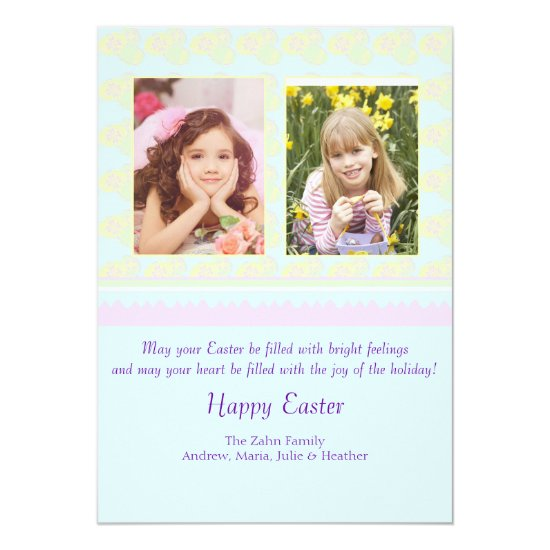 Pastel Easter Photo Card