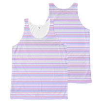 Pastel Easter Stripes All-Over-Print Tank Top
