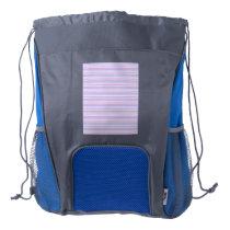 Pastel Easter Stripes Drawstring Backpack