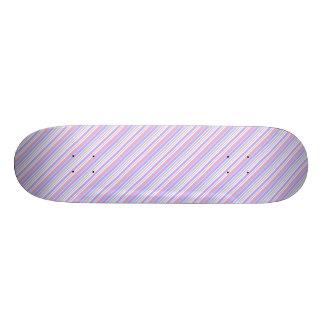 Pastel Easter Stripes Skateboard Deck
